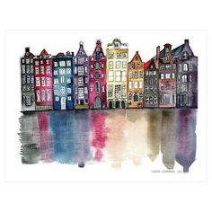 Amsterdam by Claudia Libenberg is an Art Print. This art print displays sharp, vivid images with a high degree of color accuracy. A member of the versatile family of art prints, this high-quality reproduction represents the best of both worlds: quality and affordability. Art prints are created on paper similar to that of a postcard or greeting card using a digital or offset lithography press.