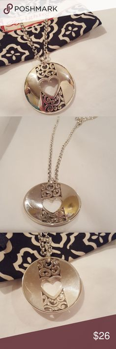 Brighton Heart Necklace..perfect for Valentine's In excellent condition Brighton Jewelry Necklaces