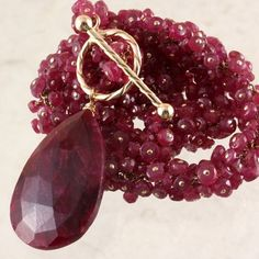 Reserved for yan ren -30% OFF - Natural Ruby Necklace