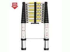 WolfWise 12.5/15.5 FT Telescoping Ladder Aluminum Telescopic Extension Tall Multi Purpose Best Ladder, Telescope, Purpose