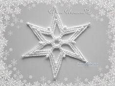 Works Irina Igoshin knitting and crochet scheme Crochet Snowflake Pattern, Crochet Snowflakes, Crochet Cross, Doily Patterns, Crochet Home, Thread Crochet, Crochet Gifts, Crochet Motif, Crochet Doilies