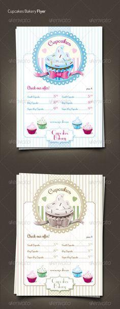 Cupcakes Retro Menu Flyer