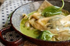 Raviolis ricotta, épinard et noix