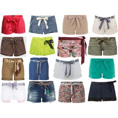 """""""Shorts with Bows ;)"""" by mack74 on Polyvore"""