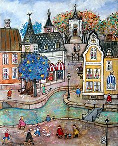 Canal Town by Marit Bjornegran