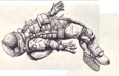 Astronaut On the Moon Drawing (page 2) - Pics about space
