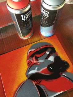This is one of a kind hand cut stencil, spray painted multi layered. Clear coat to look good. Red background with multi - color layers. What a trooper Stencil Art, Stencil Street Art, Spray Paint Art, Canvas, Painting, Graffiti Art, Red Background, Pop Art, Stencils