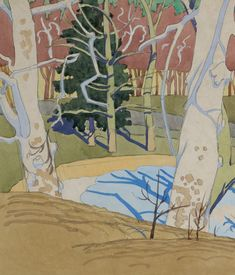 lawrenceleemagnuson:Charles Burchfield (USA 1893–1967)Trees in...