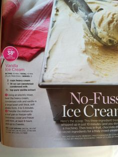 Easy homemade ice cream.