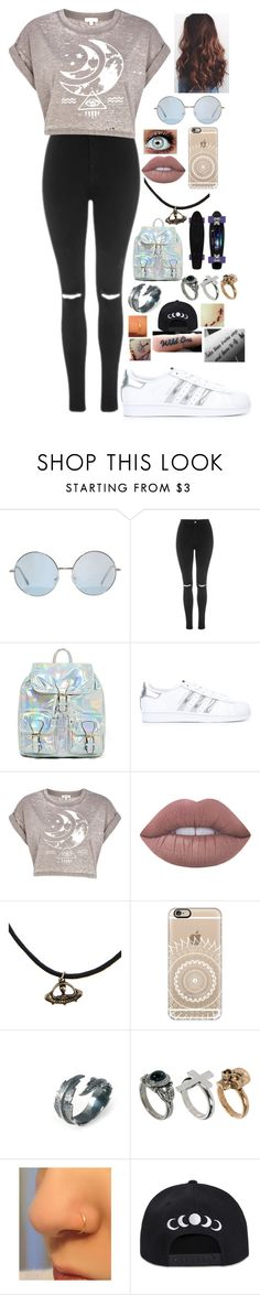 """""""Untitled #503"""" by lifeasgege on Polyvore featuring Topshop, adidas Originals, River Island, Lime Crime, Casetify and LeiVanKash"""