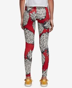 4419bf32e7528 adidas 3 Stripe Pineapple Red Leggings in 2019 | Wish list | Red ...