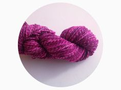 beautiful fiber that has been spun into a delicious 3 ply.