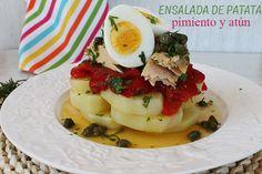 El jardín de mis recetas: ENSALADA DE PATATA, PIMIENTO Y ATÚN