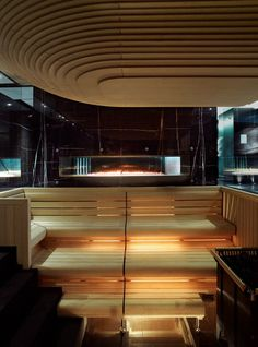 Gentlemans Butler: Luxury grooming: Espa Life at the Corinthia: Sauna Teal Bathroom Decor, Bathroom Spa, Master Bathroom, Bathroom Ideas, Spa Design, Spa Interior, Interior Design, Spa Luxe, Sauna Heater