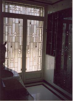 Stained glass door by France Vitrail International http://www.france-vitrail.com/ http://www.ericbonte-maitreverrier.com/EN/