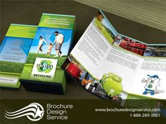 Recycling brochure, as developed by an expert brochure design agency. Development of a tri fold brochure for the recycling industry. Company Brochure, Brochure Design, Design Agency, Html, Designer, Recycling, Flyer Design, Corporate Brochure, Leaflet Design