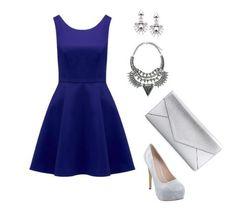 Cómo combinar un vestido azul Klein para un evento formal