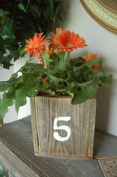 Rustic Table Numbers Table Boxes Reclaimed by WeddingSignsWithLove, $28.00