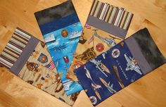 Military themed pillowcases, 4 choices, Army, Navy, Marine, Airforce.  All with contrasting border on end. by EmilHansDesigns on Etsy