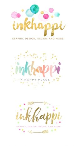 confetti logo design, gold confetti, logo design mockups, event planning, party logo, gold logo