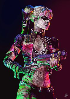 "herochan: ""Harley Quinn Created by Danel Yessaliyeva """