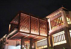 Movenpick Bali's viewing deck at night