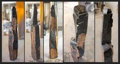 "Martin Künne: ""Stadt 2"", Basaltsäule, 20 x 120 x 20 cm, 1996. sculpture"