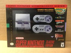 nintendo super nes classic edition game system (ready to ship) from $120.0