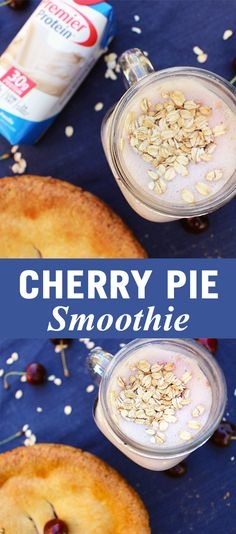 · 1 Premier Protein 11oz. Vanilla Shake · 1 tablespoon sugar-free maple syrup · ½ cup of frozen cherries · ½ cup of ice · 1 tablespoon of rolled oats · Blend until smooth and enjoy!