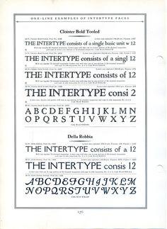 Intertype Cloister Bold Tooled type specimen