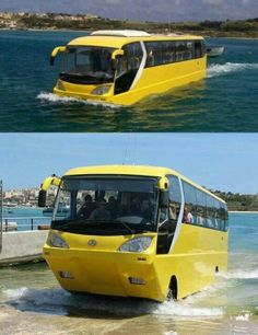 Watrbus- Dubai amfibus bus. prettier that the old Navy Duck during WWII. transport minister should see this, lol #dubai #uae