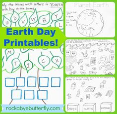 Rockabye Butterfly: Earth Day Printables!!  10 page Package!