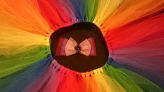 Pink Hair Bows, Tutu Skirts, Feathered Hairstyles, Headbands, Dress Skirt, Elastic Waist, Wall Lights, Hair Accessories, Rainbow