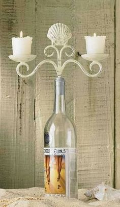 Ebay find. $17.88 Candle holder bottle topper.