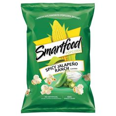 This is weird stuff. I like the jalapeno part but the ranch part not so much. But then I don't like ranch flavor anything so that isn't so surprising. Smartfood Popcorn, Cheese Popcorn, Frito Lay, Flavored Popcorn, New Flavour, The Ranch, Healthy Snacks, Spicy, Packaging