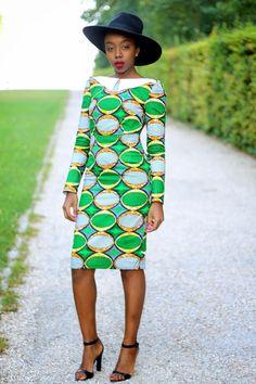African print long sleeve dress #africanprint #ankara