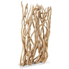 Elegant, the BAHAMAS wooden branch screen will bring a wooded and natural look to your home. Emblematic of coastal decor, this original driftwood screen will certainly evoke coastal style. Use this screen made from branches as a decorative object or us 6 Seater Dining Table, Dining Room Bench Seating, Wood Room Divider, Panel Room Divider, Balcony Furniture, Hallway Furniture, Coastal Style, Coastal Decor, Seaside Style