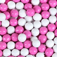 Hot Pink & White Sixlets $5.99