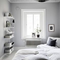 "655 Likes, 8 Comments - my scandinavian home (@myscandinavianhome) on Instagram: ""Love the calming grey and white in this bedroom, how about you? @fotografjonasberg styling…"""