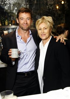 """""""Every sip gives back. Jackman and his wife, Deborra-Lee launched Laughing Man Coffee & Tea. of profits are put to the task of improving the world and the lives of everyone in it! Laughing Man Coffee, Broadway Stage, I Have A Dream, Co Founder, Coffee Love, Hugh Jackman, Product Launch, Handsome, Nyc"""