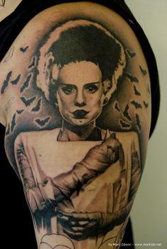 bride of frankenstein tattoos