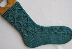 Knit Sock Pattern:  Celtic Cable Socks Knitting Sock Pattern