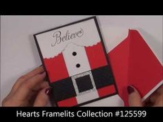"Stampin Up I ""Believe"" In Santa Claus Card"
