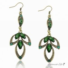 1 Paar Ohrhänger Bollywood  grün im  Organza...