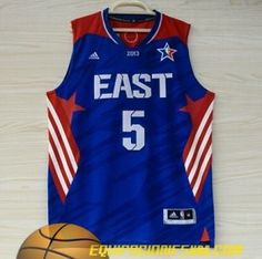 Adidas Camiseta nba baratas 2013 All Star Oriente azul Garnett #5 nueva pano