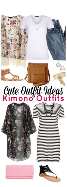 Cute Outfit Ideas of the Week - Today's cute outfit ideas of the week is all about one of my favorite articles of clothing. A kimono! Come see all of the super cute kimono outfits perfect for a summer day or night out.