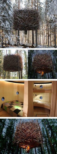 """The """"Birdnest,"""" a new hotel in Sweden designed by Tham & Videgård Arkitekter.:"""