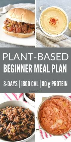 Healthy plant based diet meal plan for beginners. Vegan beginner recipes plus PDF download of the full meal plan with shopping list. Get started with a plant based diet today and enjoy easy vegan recipes that are high in protein. Plant Based Diet Plan, Plant Based Diet Meals, Plant Based Meal Planning, Plant Based Eating, Plant Based Recipes, Plant Based Diet Protein, Plant Protein, High Protein Meal Plan, High Protein Vegan Recipes