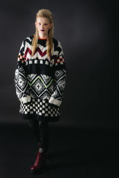 Oversize Patterned Knitwear   Cats Brothers AW13 Lookbook