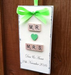 Personalised Wedding Sign Mr And Mrs Anniversary Gift